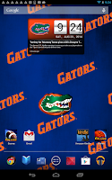 Screenshot of Florida Gators Live Clock