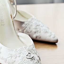 Bride's Lace Shoes by Alan Evans - Wedding Details ( shoes, lace, wedding photography, heart, wedding shoes, ballarat wedding photographer, aj photography, shoes with lace, wedding, wedding day, bride shoes, geelong wedding photographer, bride,  )