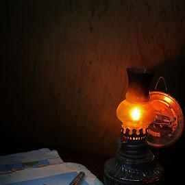 Peta by Gigih Ardiantoro - Artistic Objects Education Objects ( still life, lampu, pixoto, dark, map, light )