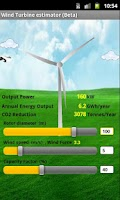 Screenshot of Wind Turbine Estimator beta