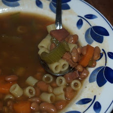 Pork and Bean Minestrone Soup