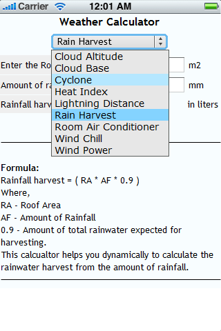 Weather Calculators