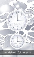 Screenshot of White clock live wallpaper HD