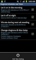 Screenshot of Ringtone Scheduler Plus