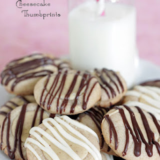 Gingerbread Cheesecake Thumbprint Cookies