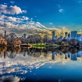 York by Jesus Rivero - City,  Street & Park  City Parks ( jesus, toxic illusions, lake, new york, central park )