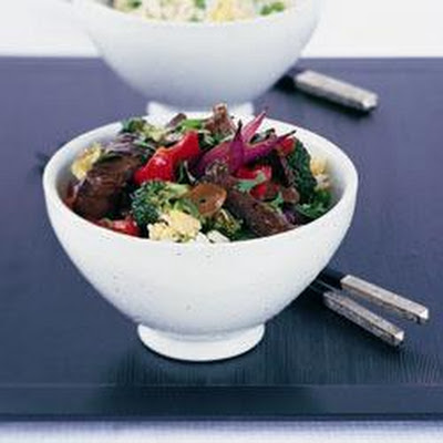 Tender Beef In Oyster Sauce With Fried Rice