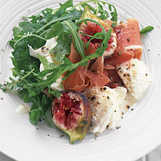 Parma Ham, Fig And Mozzarella Salad With Warm Pitta