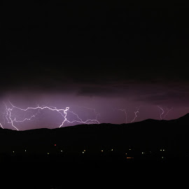 Lightning Vast  by Shawn Taylor - Landscapes Weather ( amazing, lightning, weather, night, landscape, storm, powerful )