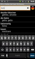 Screenshot of Italian - German offline dict.