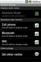 Screenshot of Airplane Mode Modifier