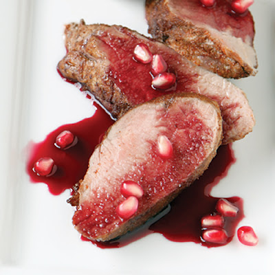 Spiced Pork Tenderloin with Pomegranate Glaze