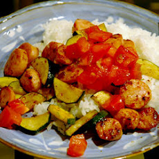 Smoked Sausage and Zucchini Saute