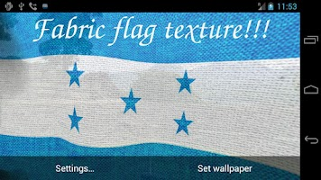 Screenshot of 3D Honduras Flag LWP +