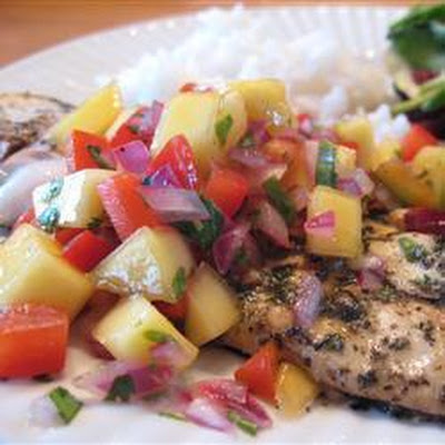 Grilled Tilapia with Hot Mango Salsa