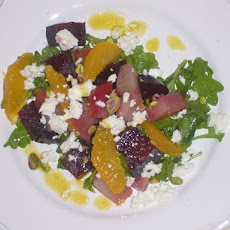 Roasted Beet, Orange, & Goat Cheese Salad