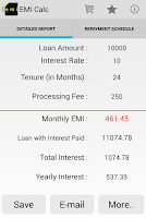 Screenshot of Loan EMI Calculator