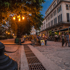 Plaza of Arms by Enrique Santana Carballo - City,  Street & Park  Street Scenes ( city scene, hdr, scene, historic district, havana, city )