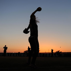 Sunset by Eric Smith - Sports & Fitness Baseball ( hs softball, pearland, sunset, texas, bellaire )