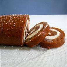 Pumpkin And Cream Cheese Roulade