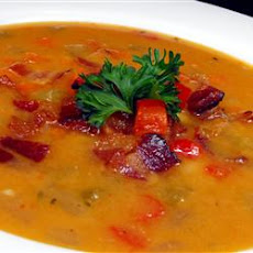 Bean, Bacon and Pepper Soup