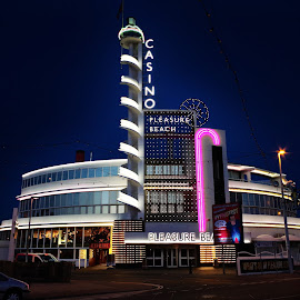 casino by Niki Cooke - Buildings & Architecture Other Exteriors ( lights, uk, white, casino, blackpool )