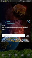 Screenshot of GO SMS Theme Cosmos