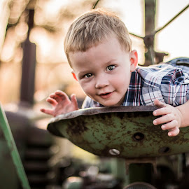 Dirty by Mason Bletscher - Babies & Children Child Portraits ( child, children, men, baby, kids, portraits, boy, tractor, portrait, man, kid,  )