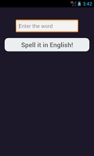 Spell words in English - screenshot