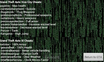 Screenshot of GTA 3 & Vice City Cheats[HACK]