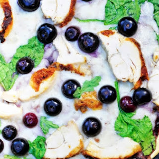 Sweet and Tangy Blueberry Barbecue Chicken Pizza