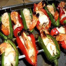 Jalapeno Tiger Prawn Ginger Skewers