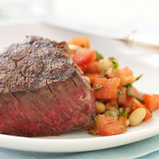 Steaks with Tuscan-Style Cannellini Salad