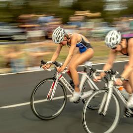 Gatorade Triathlon by Simon Tidd - Sports & Fitness Cycling ( panning, racing, cycling, triathlon, sport, race )