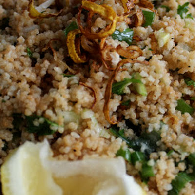 Toasted Couscous with Spring Onions and Chicken