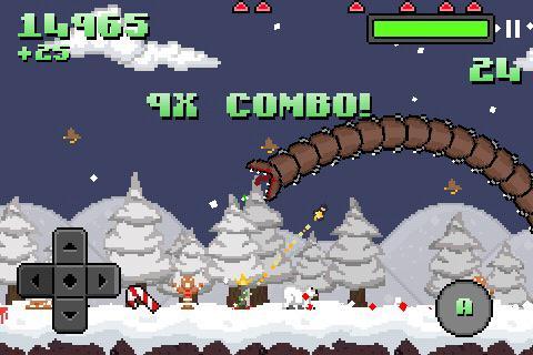 Super Mega Worm Vs Santa Saga - screenshot
