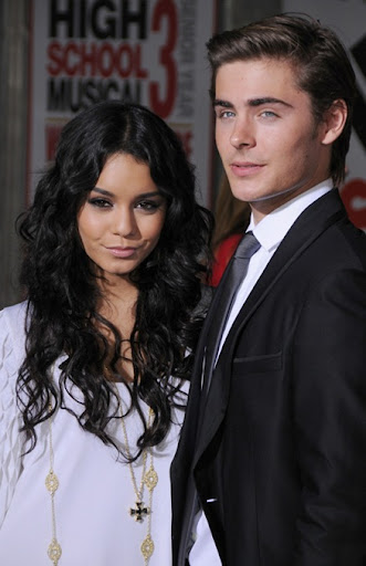 Actress Vanessa Hudgens and Actor Zac Efron arrive at the Los An