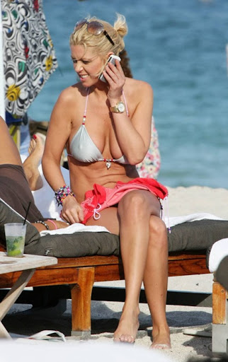 MAVRIXPHOTO.COM Tara Reid spends the day on Miami Beach. The sexy starlet hung out with friends and played with the paparazzi before returning to her luxury hotel, Miami Beach, FL, 10/18/08.<br />Byline and/or web usage link must read MAVRIXPHOTO.COM  Failure to byline correctly will incur double the agreed fee.<br />