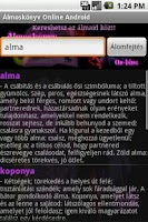 Screenshot of Álmoskönyv - hungarian