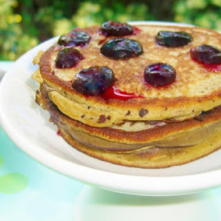 Blueberry Flourless Pancakes