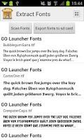 Screenshot of Extract Fonts