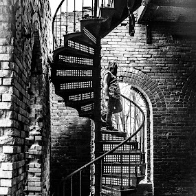 Spiral Stairs by Nancy Senchak - Buildings & Architecture Decaying & Abandoned