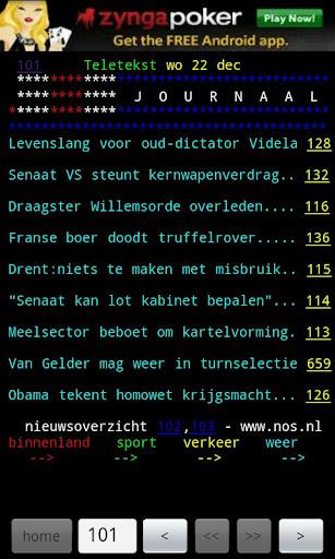 Dutch TeleTEXT teletekst