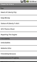 Screenshot of Pro Cheats: GTA 4 (Unofficial)