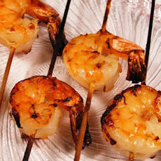 Aussie Shrimp on the Barbie With Orange Ginger Sauce