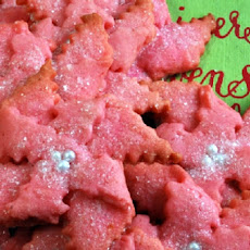 Pointsettia Cookies