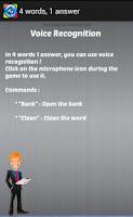 Screenshot of 4 words 1 answer