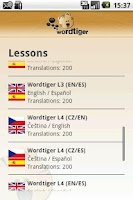 Screenshot of Wordtiger - language learning