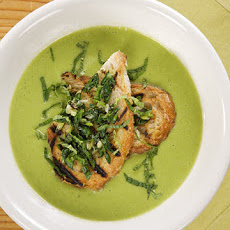 Spring Onion and Pea Soup with Ramp Crostino