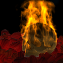 Burning Skull Gothic LWP DEMO icon